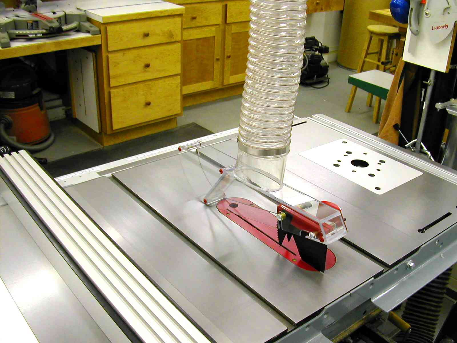 diy table saw blade guard dust collection - table design ideas
